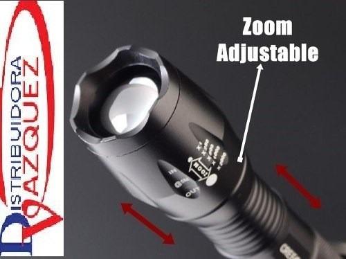 linterna táctica potente telescopica 5000 lumenes recargable
