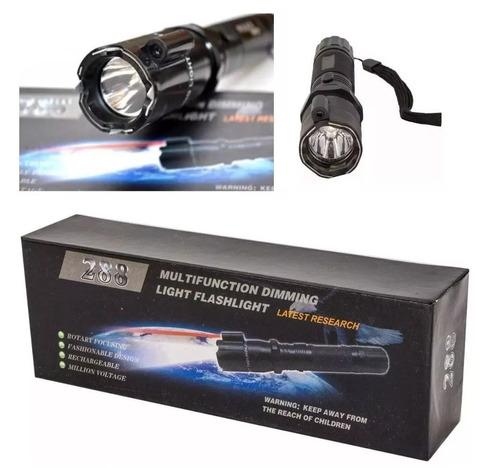 linterna taser 288 con láser descarga eléctrica recargable