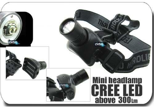 linterna tipo minero cree led 300 lm, flashlight