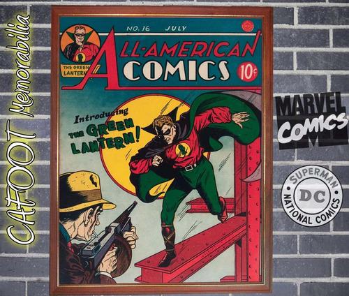 linterna verde all american 16 (dc, 1940) comic enmarcado