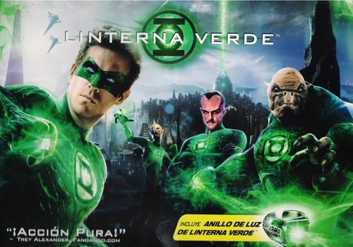 linterna verde green lantern pelicula dvd + anillo de luz