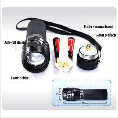 linterna zoom deportes ciclismo bici portable led + soporte