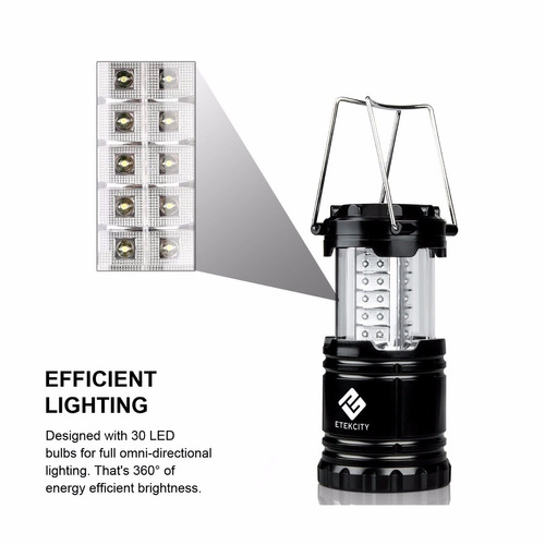 linternas (2) led camping + baterias+envio gratis