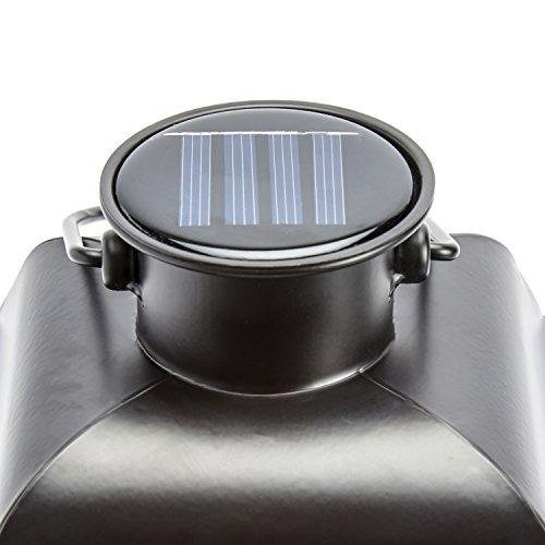 linternas de vela solar negra al aire libre, 11 de altura,
