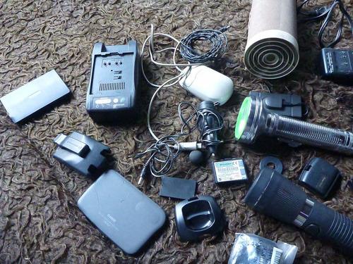 linternas-parlante-agendas electronicas-cargadores todo $399