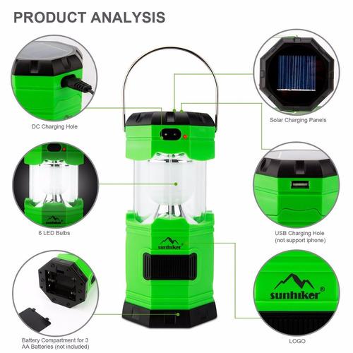 linternas solares led multifunción marca boyon