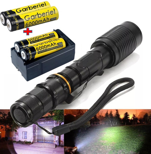 linternas tacticas ultra potente led recargable 15000 lumens