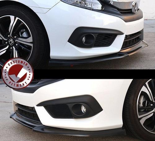 lip delantero faldon civic sedan y coupe type 2016 - 2017