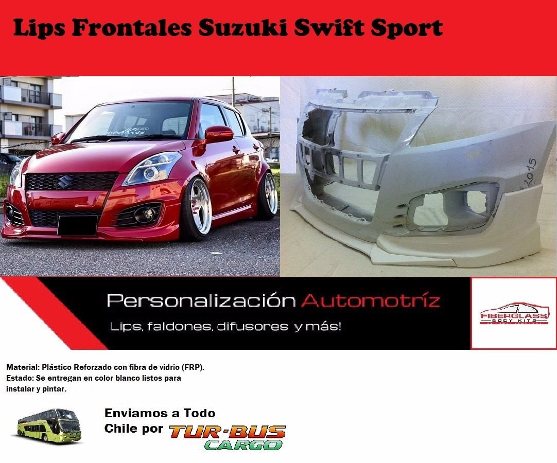 lip frontal tuning de parachoque suzuki swift sport 80. Black Bedroom Furniture Sets. Home Design Ideas