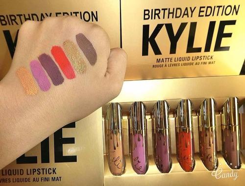 lip gloss birthday edition by kylie jenner (5 piezas)