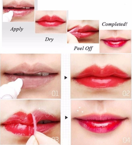 lip tattoo gloss - batom adesivo de longa duração original