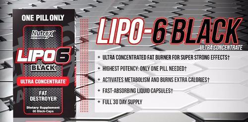 lipo 6 black 60 cap nutrex quema grasa original resolución