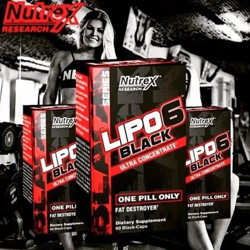 lipo 6 black nutrex 60 caps termogênico eua + frete grátis
