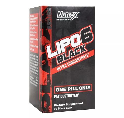 lipo 6 black nutrex 60caps termogênico eua original