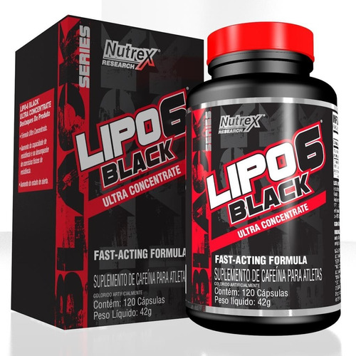 lipo 6 black nutrex ultra concentrate 120 caps original nf