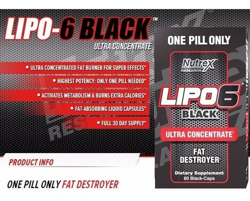 lipo 6 black uc 60 cap nutrex quema grasa termogenico fitnes