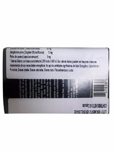 lipo 6 black uc 60 cápsulas nutrex - new formula + dieta
