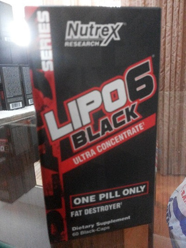 lipo 6 black uc nutrex 60cáps ultra termogenico concentrado