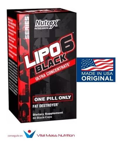 lipo 6 black uc x 60 caps nutrex original usa envío gratis!!