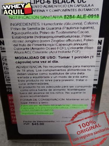 lipo 6 quemador de grasa adelgazant peso + gratis