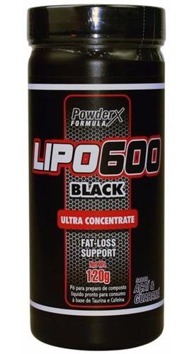 lipo 600 black powder 120g 6 uc nutrex red series