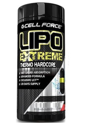 lipo extreme - 120 cápsulas - cell force