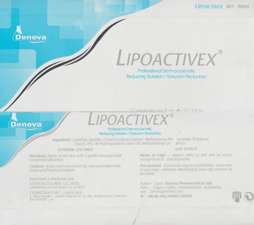 lipoactivex con l-carnitina, alcachofa mesoterapia