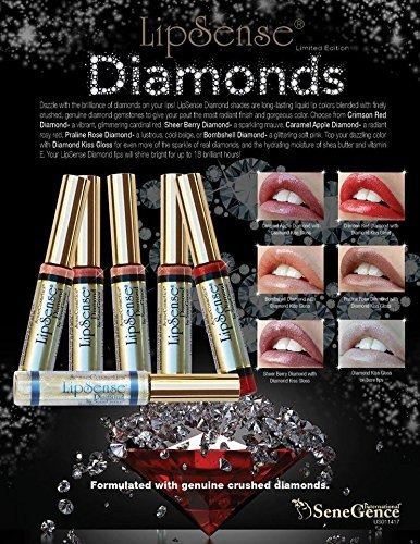 lipsense crimson red diamond lipstick