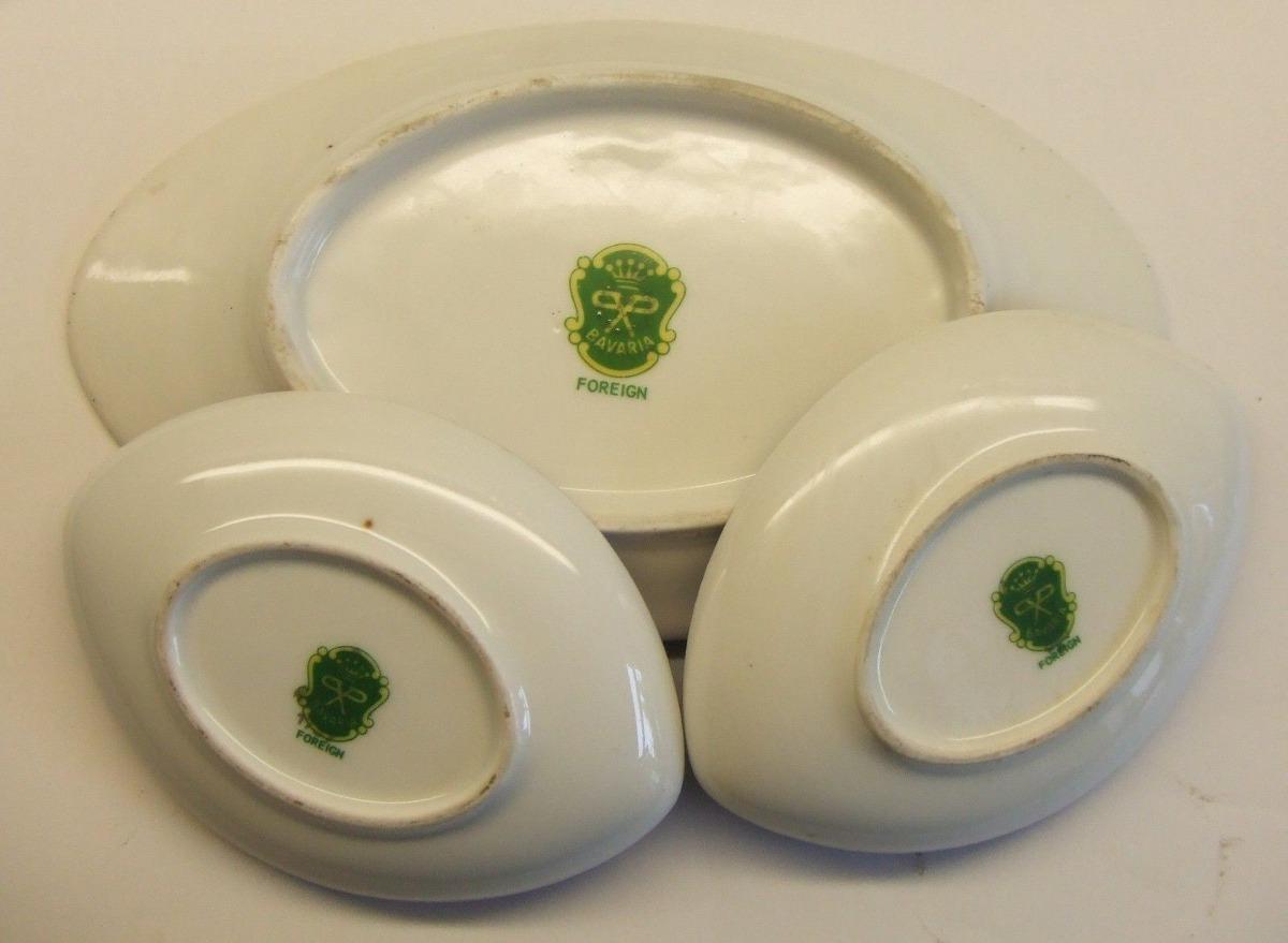 Liq conjunto de 3 platos de porcelana erich parbus bavaria for Platos porcelana