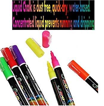 Liquid Chalk Markers Mega Set Of 8 Neon Bright Colors For K 863 31 En Mercado Libre