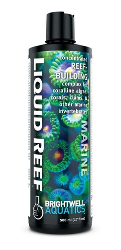 liquid reef 500ml brightwell ca, mg, sr, potássio tudo em 1