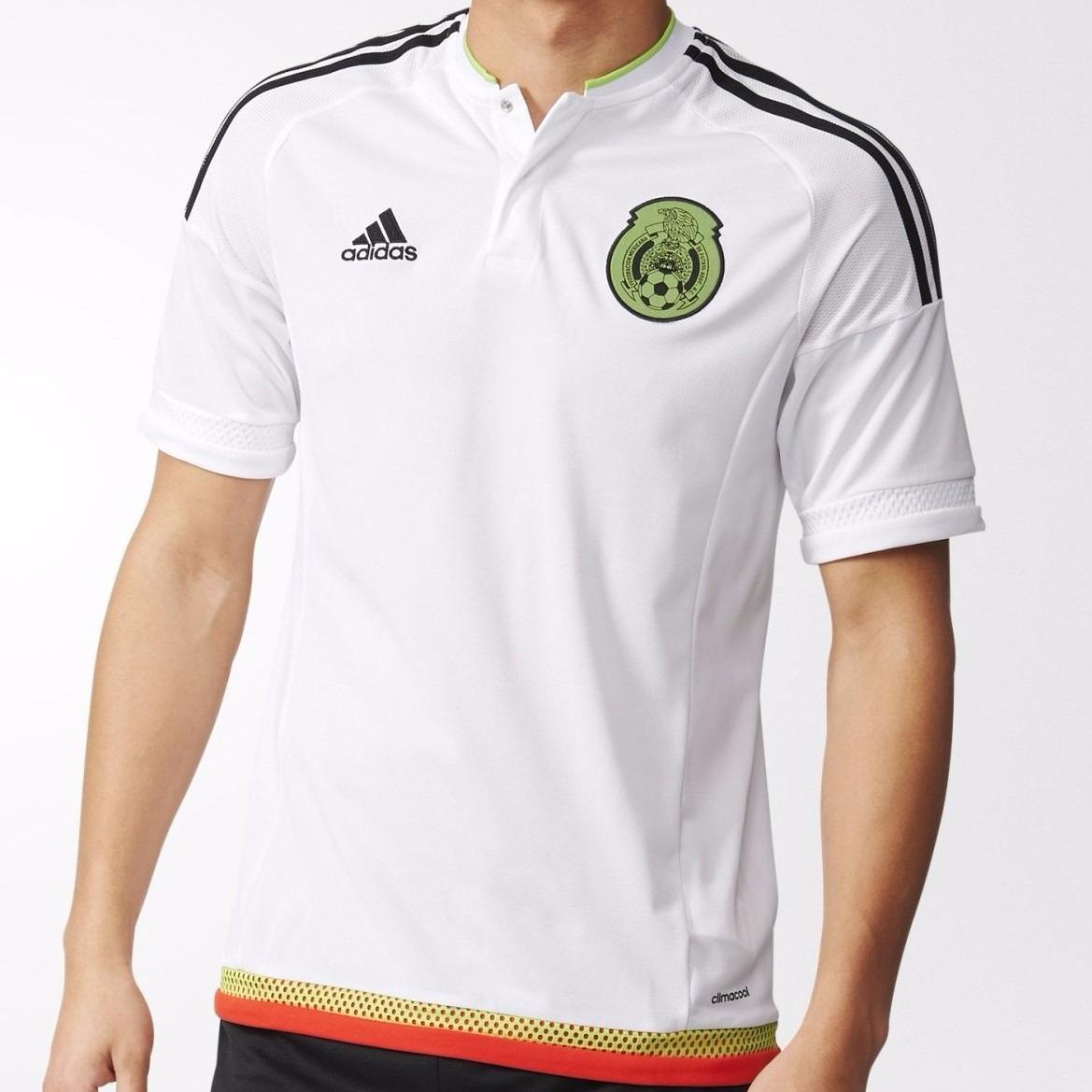 891f322324c3e Liquidacion 50%off Mexico Camiseta Suplente Blanca 2016 -   980