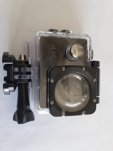liquidación! cámara deportiva 4k c/accesorios mow!