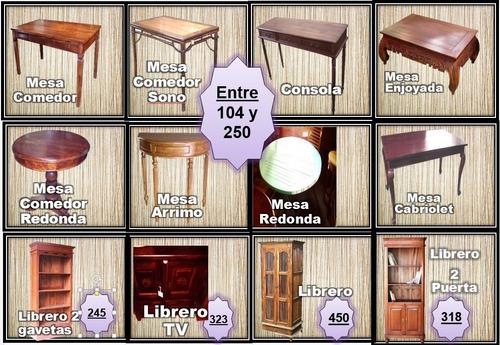liquidacion de muebles asia (camas, gabetero, mesas y silla)