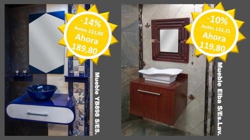 liquidación de muebles de baño con lavabo y espejo algunos!!