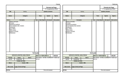 liquidacion de sueldos y jornales / consultor en rrhh