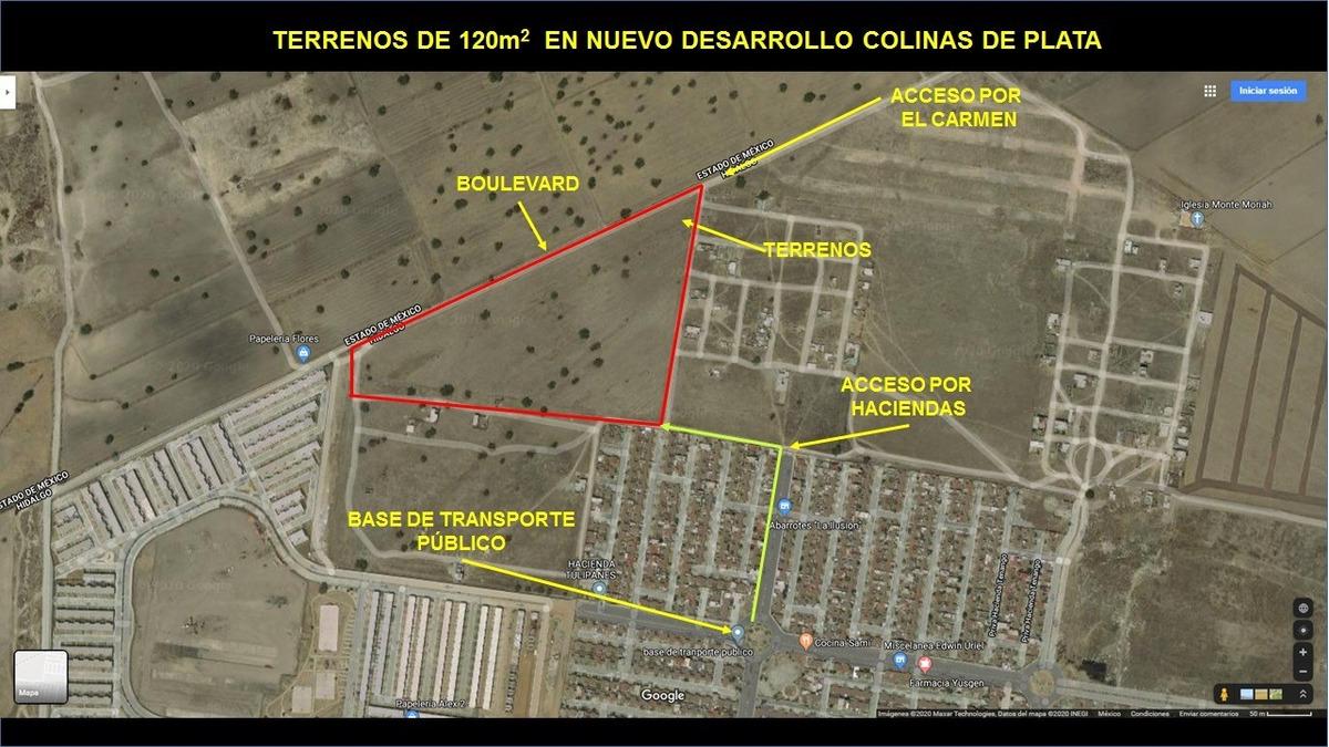 liquidación de terrenos en tizayuca, hidalgo!!!  aprovecha