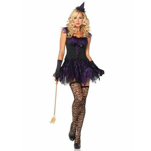 liquidación - disfraz mujer bruja encantada (talla m)