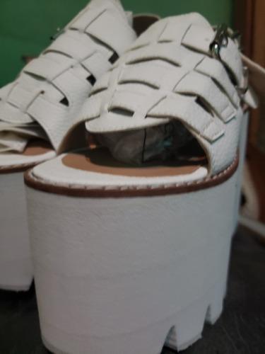 liquidacion !!hoi hoi white miux shoes