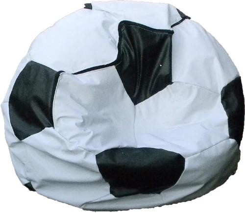liquidación puff pera fútbol tamaño s tela tafetan