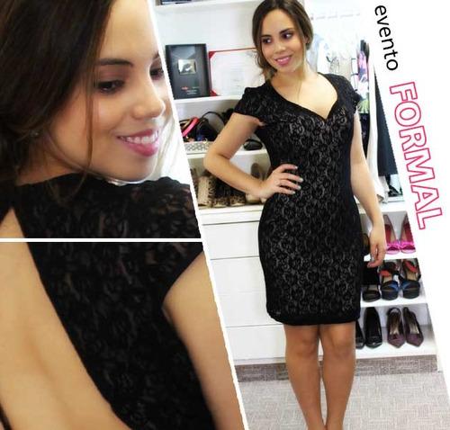 liquidación vestido mini nuevo encaje negro talla s cyzone