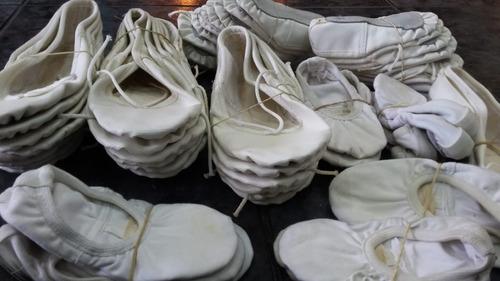 liquidación  zapatillas de danzas media punta blancas