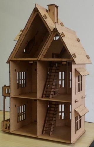 liquidação casa castelo mdf p bonecas polly grátis 24 móveis