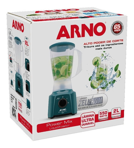 liquidificador arno power mix verde lq13