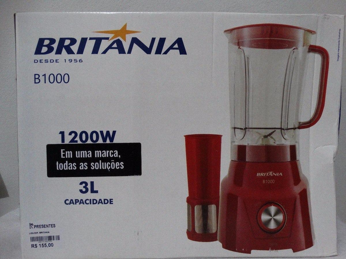 869301143 liquidificador britânia b1000 12 velocidades - com filtro 10. Carregando  zoom.