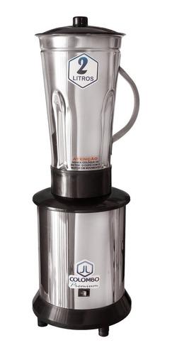 liquidificador industrial 2 litros baixa rotação inox