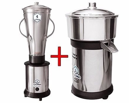 liquidificador industrial 4 l alta rot. + espremedor de suco
