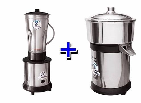 liquidificador industrial alta rotação + espremedor de suco
