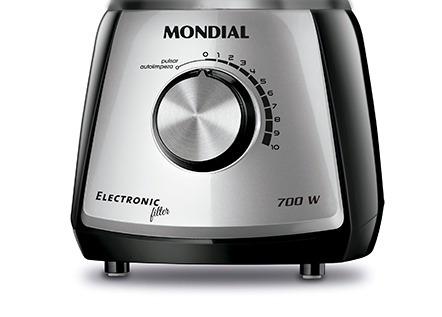 liquidificador mondial electronic-filter 850w 10 veloc .220v