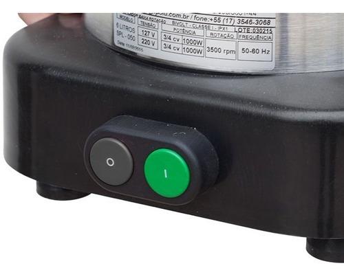 liquidificador triturador industrial 10 l baixa rotação spol